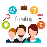 Business consulting design. Business consulting with icons design, vector graphic Stock Photo