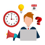 Business consulting design. Business consulting with icons design, vector graphic Stock Photography