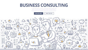 Business Consulting Doodle Concept Stock Photo