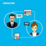 Business consulting. Flat design vector concept Stock Images