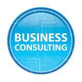 Business Consulting floral blue round button royalty free illustration