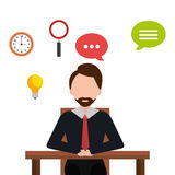 Business consulting  graphic. Business consulting graphic design, vector illustration eps10 Stock Image