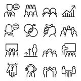 Business Consulting icon set in thin line style. Vector illustration royalty free illustration