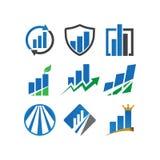Business consulting logo design template. Illustration of business consulting logo design template Stock Photos
