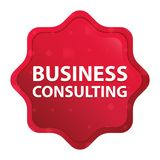 Business Consulting misty rose red starburst sticker button vector illustration