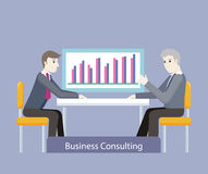 Business Consulting. People on Negotiations Stock Photo