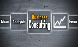 Business consulting touchscreen concept background.  royalty free illustration