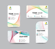 Business contact card template design. contrast color design. ve Royalty Free Stock Images