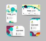Business contact card template design. vector stock. Business greeting card template design. introduce card include sample text position. vector illustration Royalty Free Stock Images