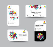 Business contact card template design. vector stock Royalty Free Stock Images