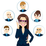 Business Contacts Concept Royalty Free Stock Photo