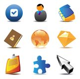 Business contacts icons Royalty Free Stock Images