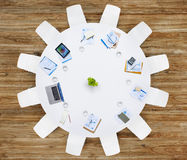 Business Contemporary Meeting Room Office Working Concept Stock Photos