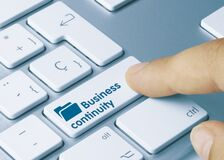 Free Business Continuity - Inscription On Blue Keyboard Key Stock Photography - 215307622