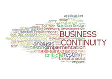 Business Continuity Planning. Cloud of words relating to business continuity planning in the risk management discipline