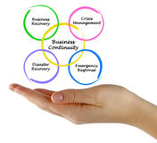 Business Continuity. Presenting Diagram of Business Continuity royalty free stock photography