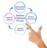 Business Continuity Process. Woman presenting Business Continuity Process stock image