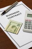 Business Contract Stock Image