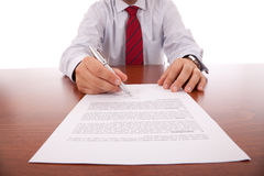 Business contract Royalty Free Stock Photo