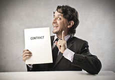 Business Contract Royalty Free Stock Photos