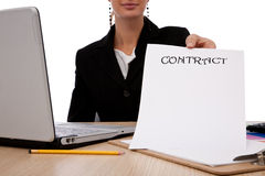 Business contract royalty free stock photography