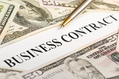 Business contract Royalty Free Stock Image