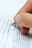 Business Contract. And pen close up Royalty Free Stock Photo