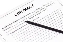 Business contract agreement Stock Photo