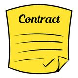 Business contract icon cartoon Stock Photography