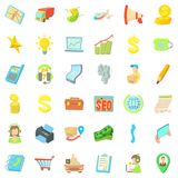Business contract icons set, cartoon style. Business contract icons set. Cartoon style of 36 business contract vector icons for web  on white background Royalty Free Stock Photos