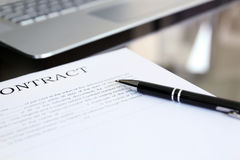 Business contract with pen is ready to sign Stock Image