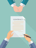 Business contract signing Royalty Free Stock Photos