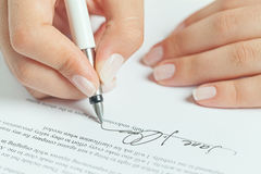 Business contract signing Royalty Free Stock Images