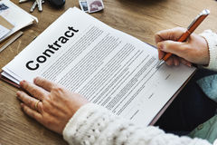 Business Contract Terms Legal Agreement Concept Royalty Free Stock Images