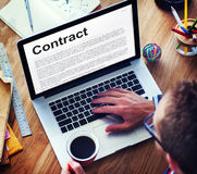 Business Contract Terms Legal Agreement Concept Royalty Free Stock Photo