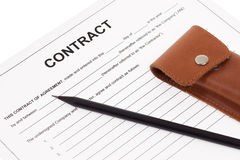 Business contract Stock Photography