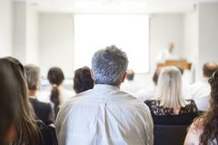 Business convention and Presentation. Royalty Free Stock Photo