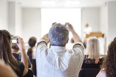 Business convention and Presentation. Stock Images