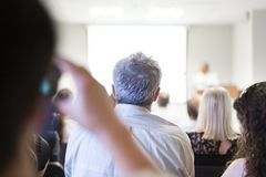 Business convention and Presentation. Royalty Free Stock Images