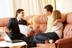Business conversation stock photo