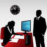 Business conversation. Vector illustration of two business people having conversation vector illustration