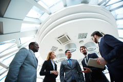Business conversation Stock Photos