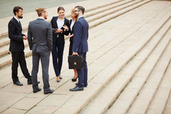 Business conversation Royalty Free Stock Images