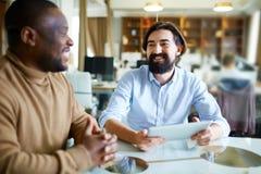 Business conversation Stock Image