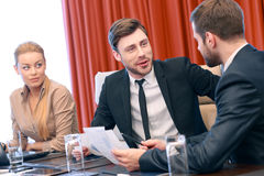 Business conversation at meeting Royalty Free Stock Images