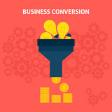 Business Conversion Flat Concept Stock Photos