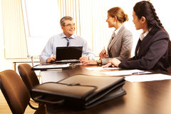Business cooperation stock images