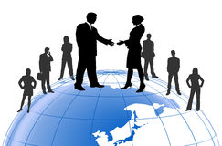 Business cooperation Stock Photo