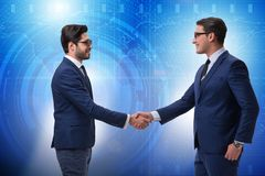 The business cooperation concept with businessmen hand shaking Stock Photography