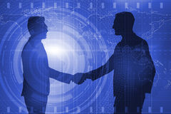 The business cooperation concept with businessmen hand shaking Stock Images
